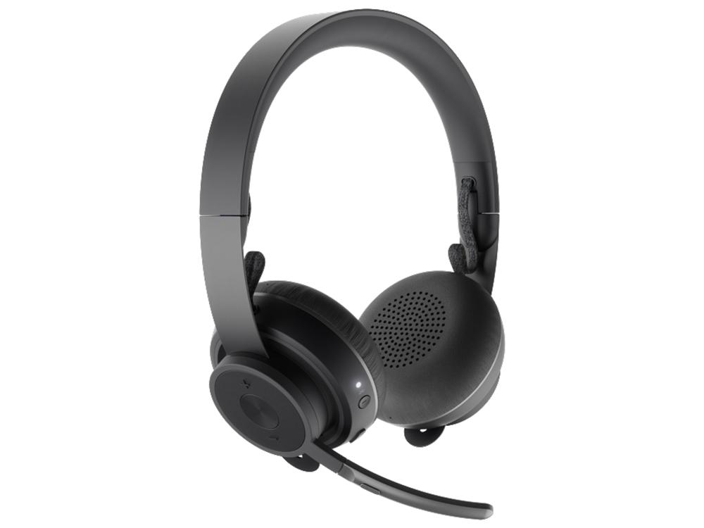 Наушники (гарнитура) Logitech Zone Wireless Black Проводные / Накладные с микрофоном / Черный / 30 Гц - 13 кГц / до 15 ч / Bluetooth гарнитура jbl jble35wht накладные белый проводные