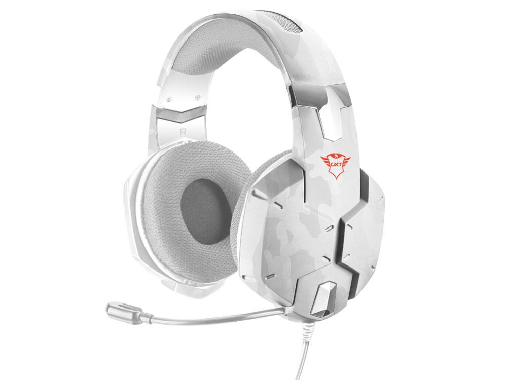 Гарнитура Trust GXT 322W Snow camo Проводные / Полноразмерные с микрофоном / 20 - 20000 Гц / 112 дБ / Одностороннее / miniJack 3.5 мм
