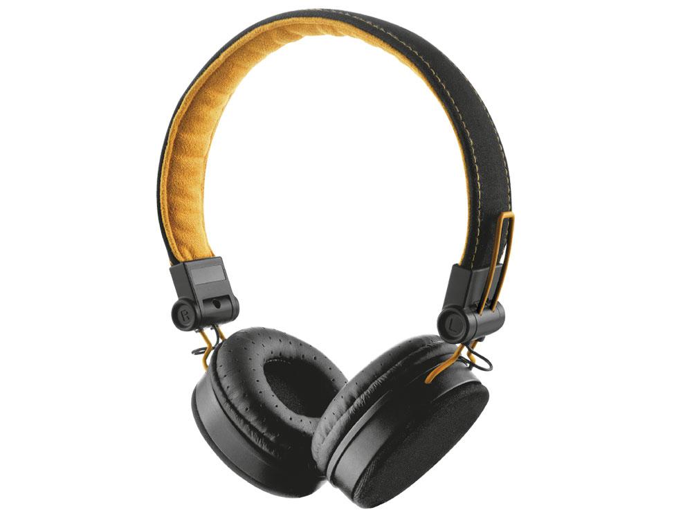 Гарнитура Trust Fyber Black/Orange Проводные / Накладные с микрофоном / 20 - 20000 Гц / 104 дБ / Одностороннее / miniJack 3.5 мм гарнитура