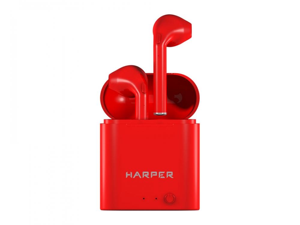 Гарнитура HARPER HB-508 Red Беспроводные / Вкладыши с микрофоном / 20 — 20 000 Гц / BlueTooth / microUSB