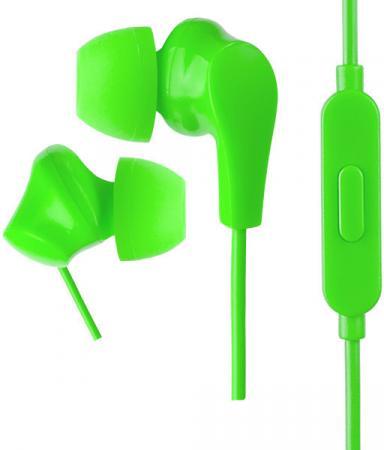 цена на Наушники (гарнитура) Perfeo ALPHA Green Проводные / Внутриканальные с микрофоном / 20 - 20000 Гц / 103 дБ / miniJack 3.5 мм