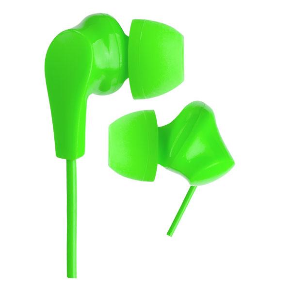 цена на Наушники Perfeo NOVA Green Проводные / Внутриканальные без микрофона / 20 - 20000 Гц / 103 дБ / Двустороннее / miniJack 3.5 мм