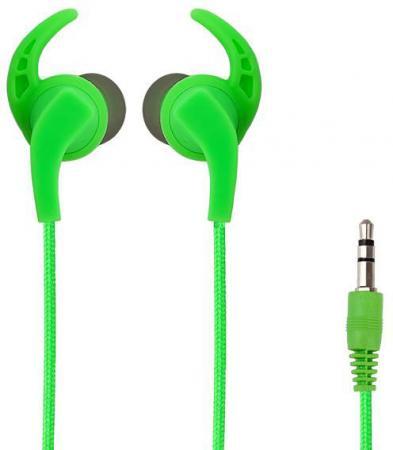 цена на Наушники Perfeo BULLS Green Проводные / Внутриканальные без микрофона / 20 - 20000 Гц / miniJack 3.5 мм