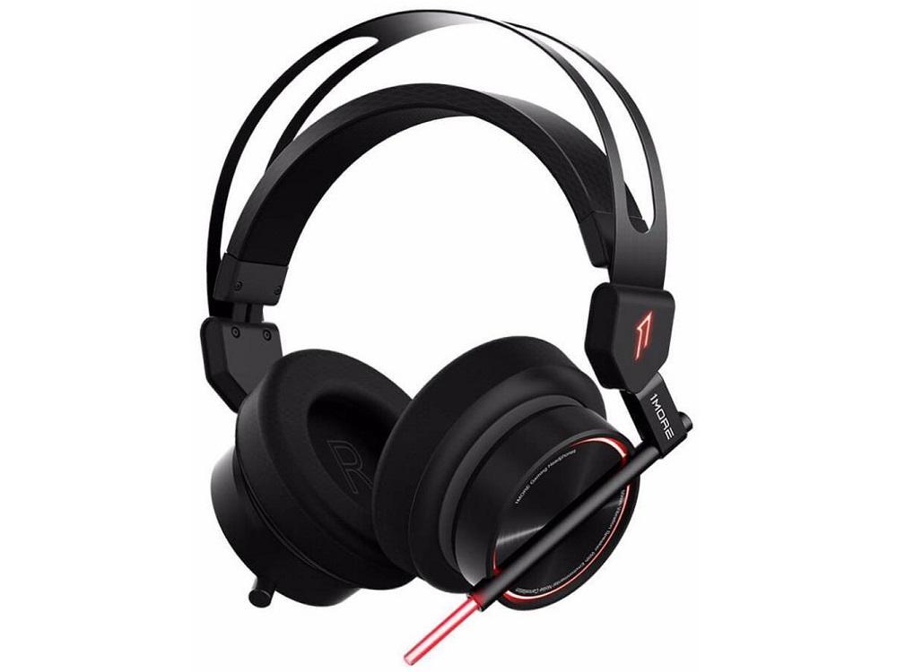 Наушники (гарнитура) 1MORE Spearhead VR Black Проводные / Полноразмерные с микрофоном / 20 - 20000 Гц / 103 дБ / Одностороннее / USB / miniJack 3.5 мм гарнитура