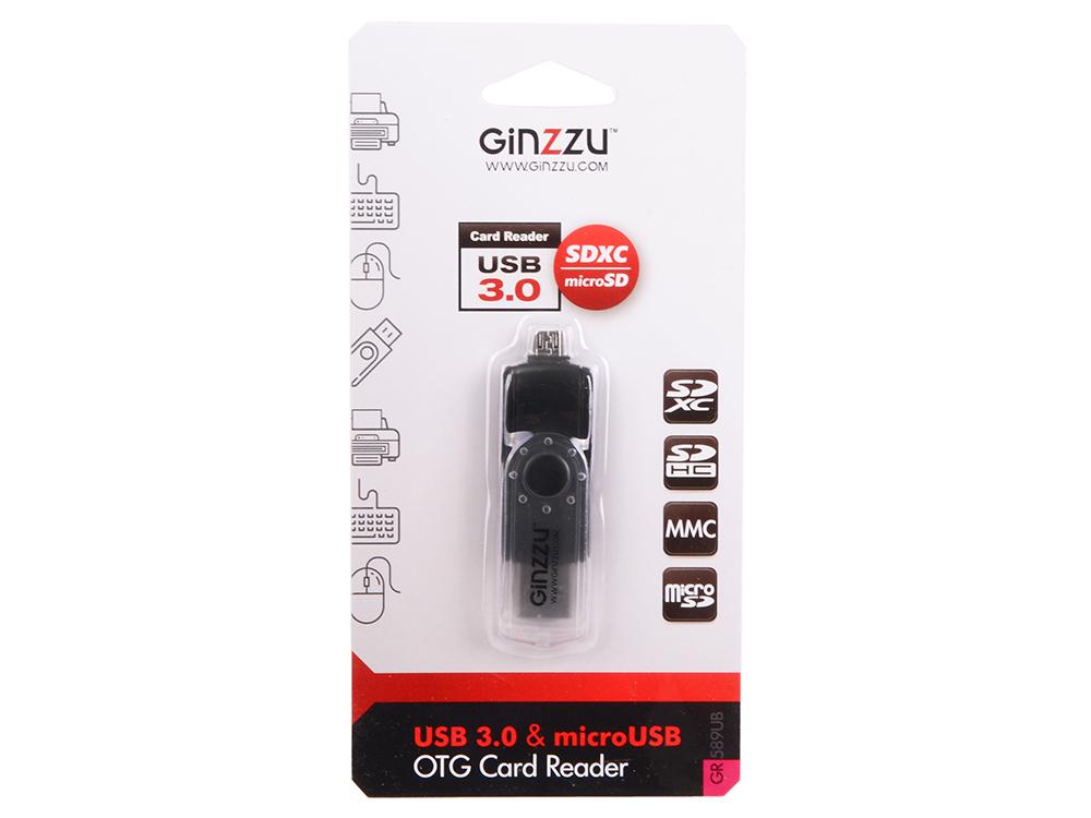 Картридер Ginzzu USB 3.0/micro USB OTG переходник-картридер для компьютеров и смартфонов, поддержка форматов SD/SDXC/SDHC/MMC microSD/SDXC/SDHС, цвет sdxc page 5