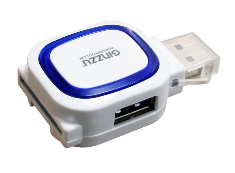 Картридер универсальный Ginzzu GR-514UW USB 2.0 белый ginzzu gt w153 белый