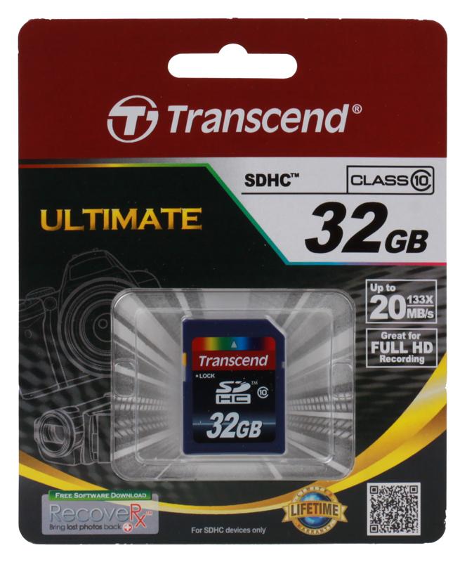 SDHC Transcend 32Gb Class10 (TS32GSDHC10)