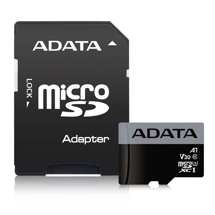Карта памяти 64GB ADATA Premier Pro microSDXC UHS- U3 A1 Class 10(V30S) 100MB/60MB/ с адаптером