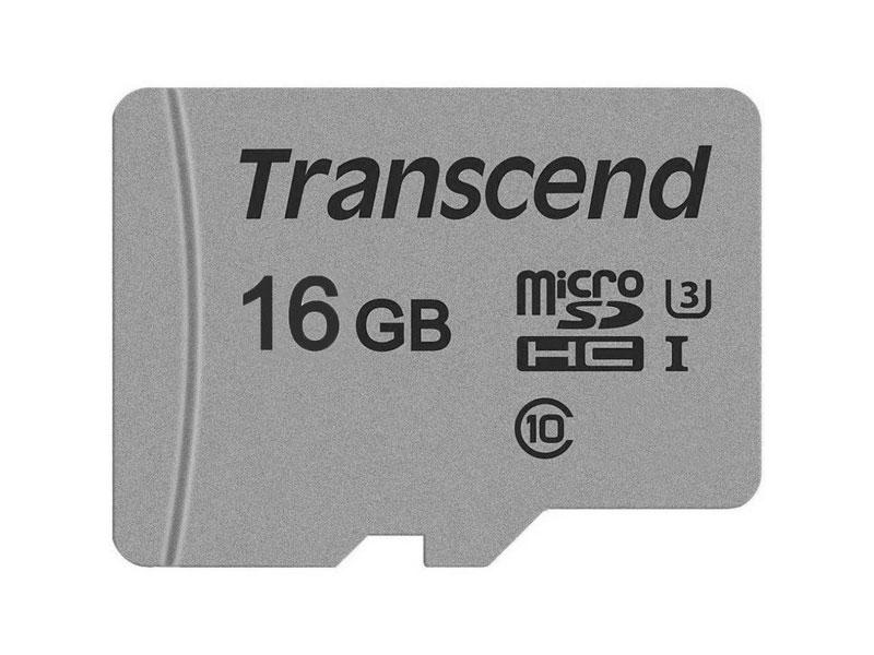 Карта памяти microSDHC 16Gb Class10 Transcend TS16GUSD300S