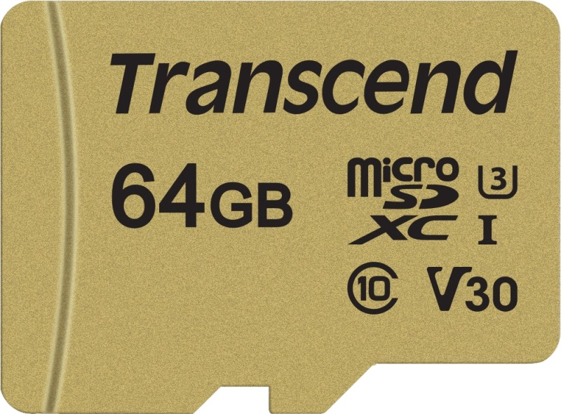 Карта памяти microSDXC 64Gb Class10 Transcend TS64GUSD500S 500S w/o adapter