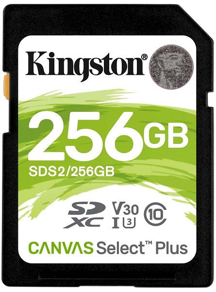 Карта памяти SDHC Kingston Canvas Select Plus 256Gb Class10 UHS-I (SDS2/256GB)