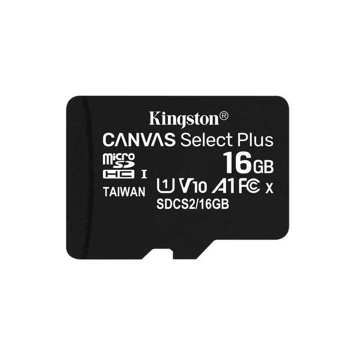 Карта памяти microSDHC Kingston Canvas Select Plus 16Gb Class10 UHS-I (SDCS2/16GBSP)