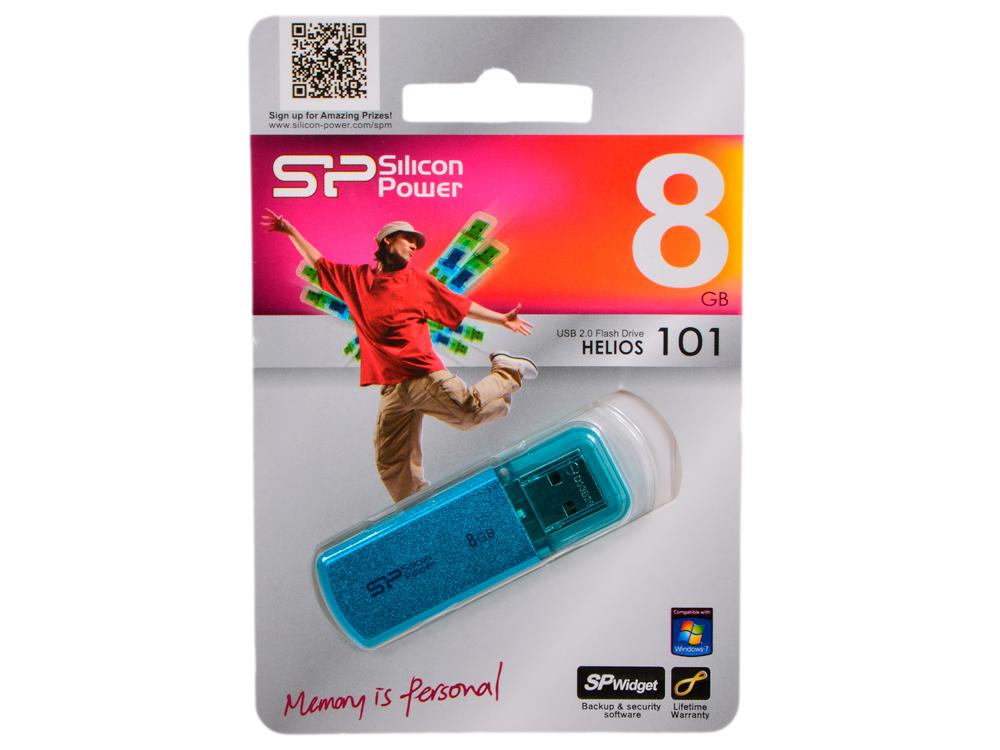 цены USB флешка Silicon Power Helios 101 8Gb Blue (SP008GBUF2101V1B) USB 2.0