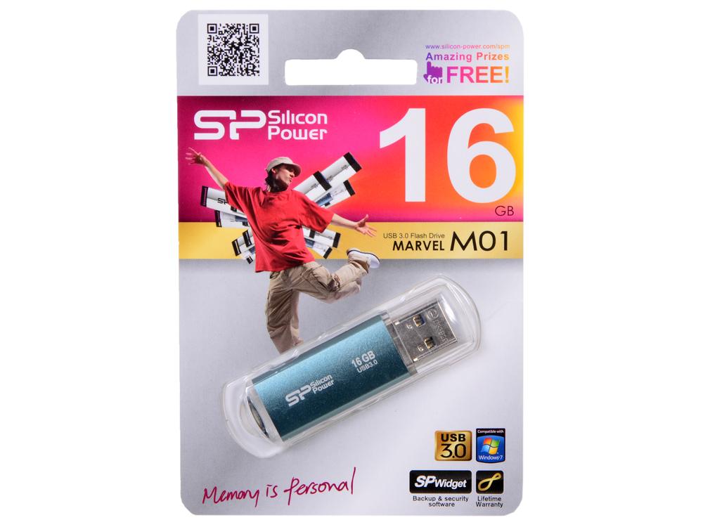 USB флешка Silicon Power Marvel M01 Blue 16GB (SP016GBUF3M01V1B) industrial power module 1di200zn 120 1di200zn 120 01