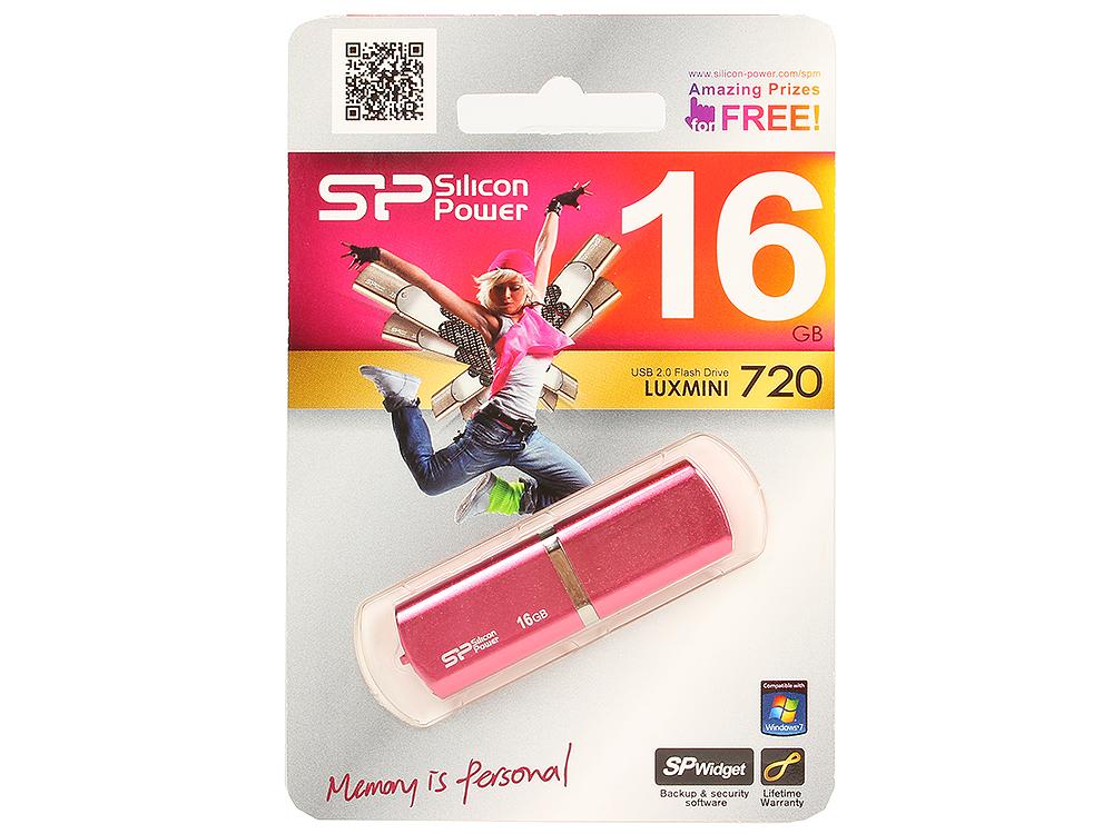 Фото - USB флешка Silicon Power LuxMini 720 16Gb Pink (SP016GBUF2720V1H) USB 2.0 pink lace