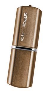 Внешний накопитель 32GB USB Drive USB 2.0 Silicon Power LuxMini 720 Bronze (SP032GBUF2720V1Z) silicon power luxmini 720 16gb dark blue usb накопитель