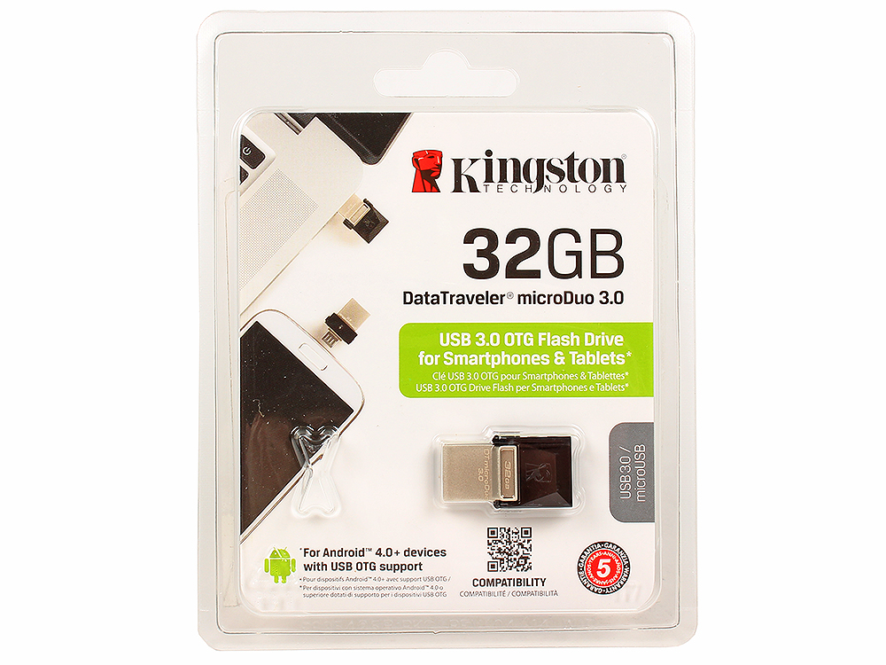 USB флешка Kingston DTDUO3 32GB (DTDUO3/32GB) флешка usb 32gb sony usm32m1 черный