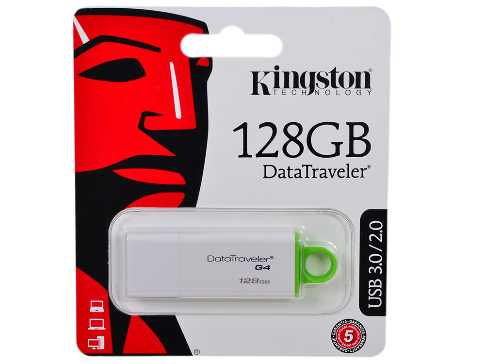 USB флешка Kingston DTIG4 128Gb (DTIG4/128GB) USB 3.0