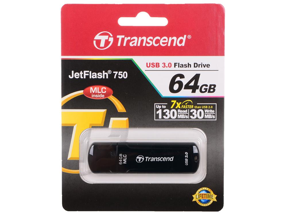USB флешка Transcend 750 64GB (TS64GJF750K) цена и фото