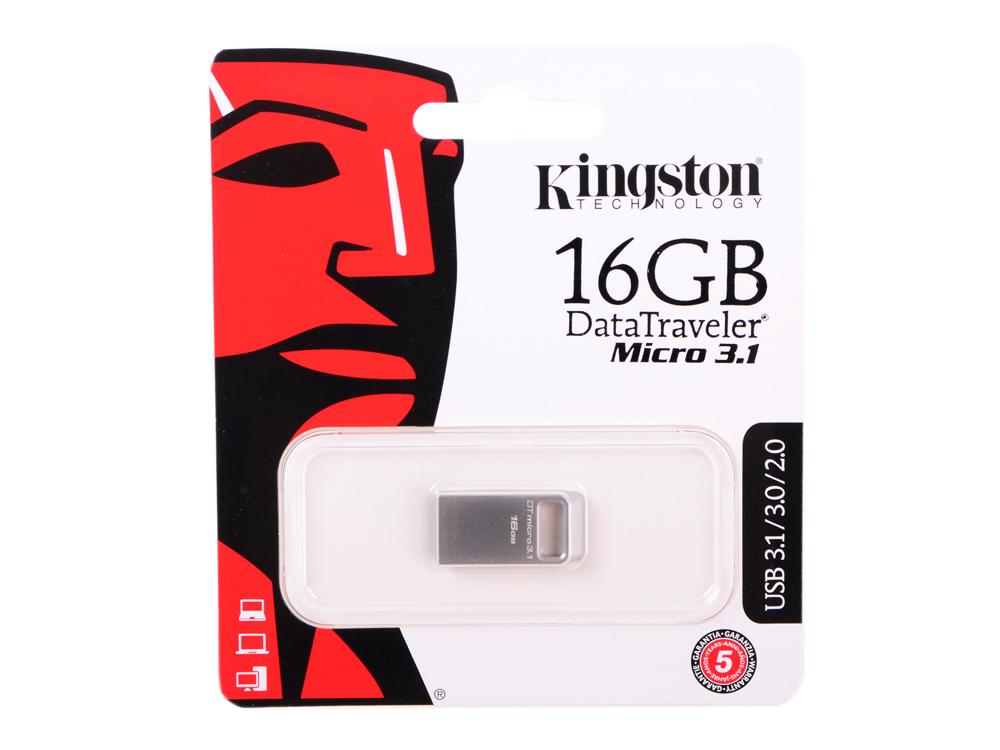 Внешний накопитель 16GB USB Drive USB 3.1 Kingston Micro 3.1 (DTMC3/16GB) micro sd card 16gb kingston