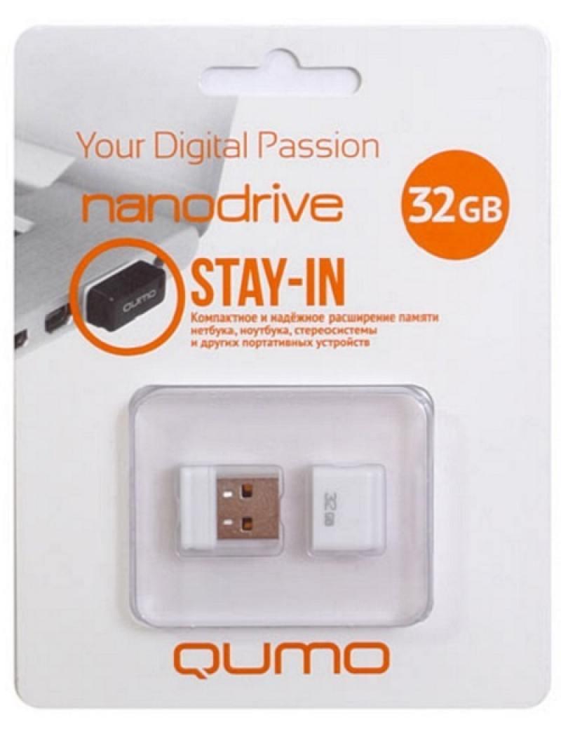 USB флешка QUMO NanoDrive 32Gb White (QM32GUD-NANO-W) USB 2.0