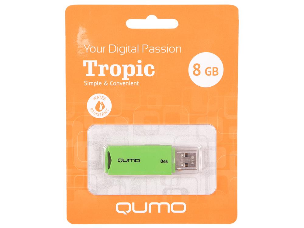 USB флешка QUMO Tropic 8GB Green (QM8GUD-TRP-Green) USB 2.0 цена и фото