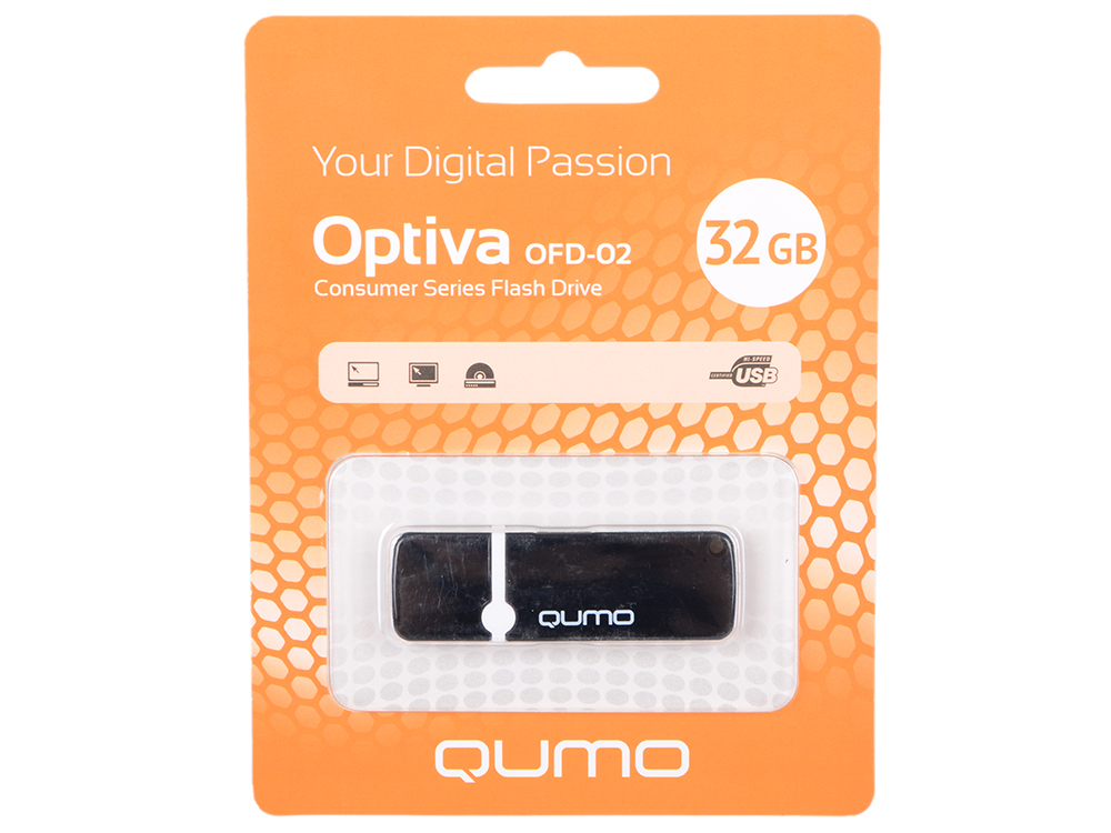 USB флешка QUMO Optiva 02 32GB Green (QM32GUD-OP2-black) USB 2.0
