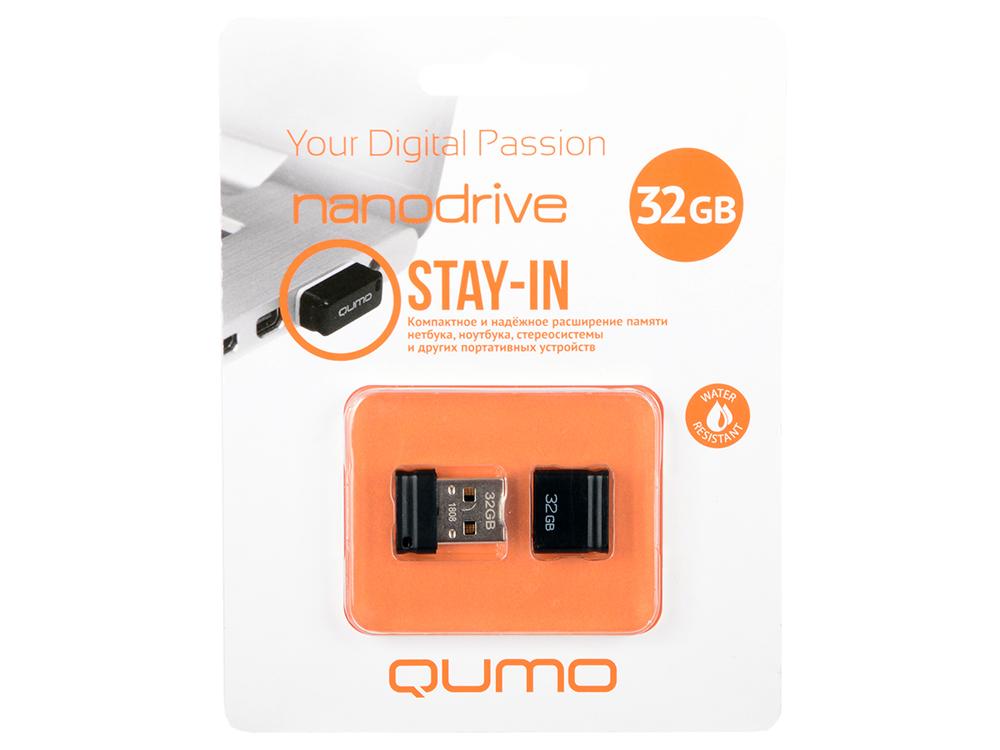 USB флешка QUMO NanoDrive QM32GUD-NANO-B 32Gb Black USB 2.0