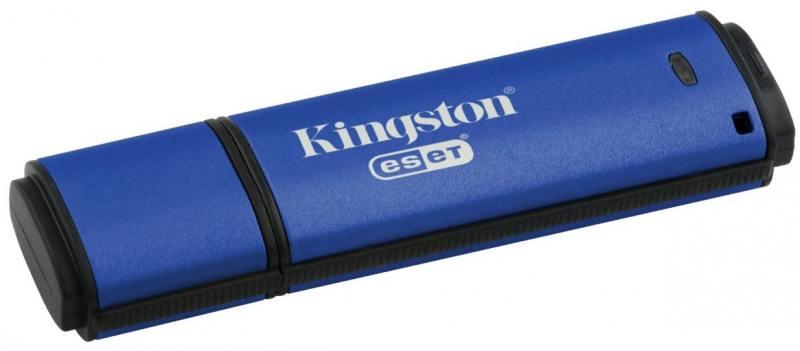 Фото - USB флешка Kingston DataTraveler Vault with Privacy 32Gb Blue (DTVP30/32GB) USB 3.1 / 250 Мб/с / 40 Мб/с usb флешка toshiba owari u401 32gb thn u401s0320e4 usb 2 0 20 мб с 11 мб с