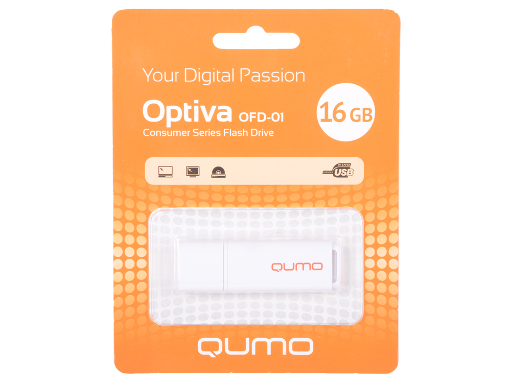 цена на USB флешка QUMO Optiva 01 16GB Green (QM16GUD-OP1-white) USB 2.0