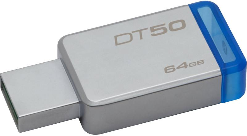 цена на USB флешка Kingston DataTraveler 50 64Gb Silver (DT50/64GB) USB 3.1 / 30 МБ/cек / 5 МБ/cек