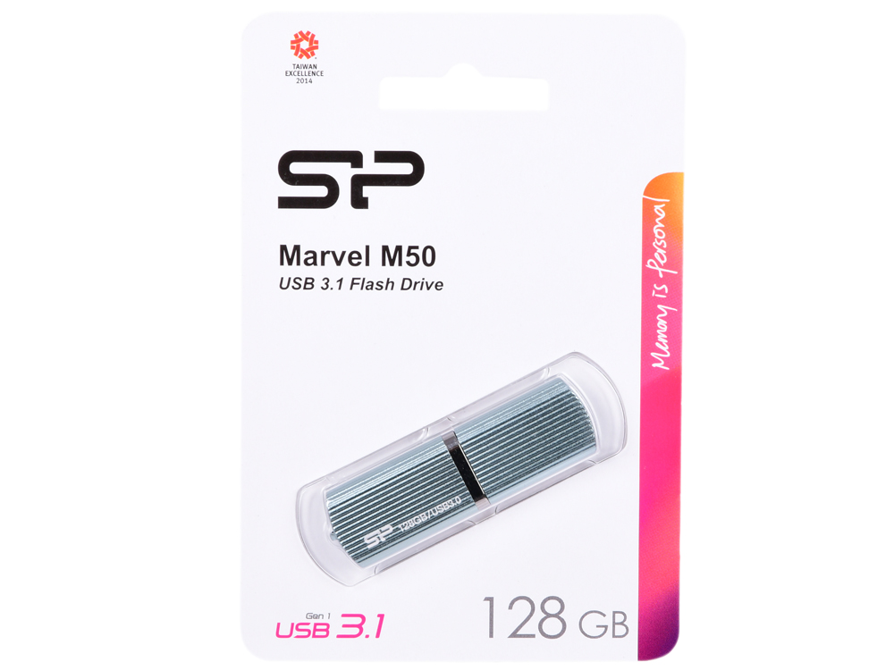 USB флешка Silicon Power Marvel M50 128Gb Blue (SP128GBUF3M50V1B) USB 3.0