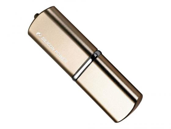 USB флешка Silicon Power Luxmini 720 64GB Gold (SP064GBUF2720V1Z) USB 2.0 / 15 МБ/cек / 7 МБ/cек usb флешка kingston hx savage 64gb black hxs3 64gb usb 3 1 350 мб cек 180 мб cек