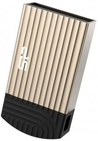 USB флешка Silicon Power Touch T20 8Gb Gold (SP008GBUF2T20V1C) USB 2.0 / 25 Мб/с / 19 Мб/с usb флешка mirex knight 8gb white 13600 fmukwh08 usb 2 0 18 мб с 8 мб с