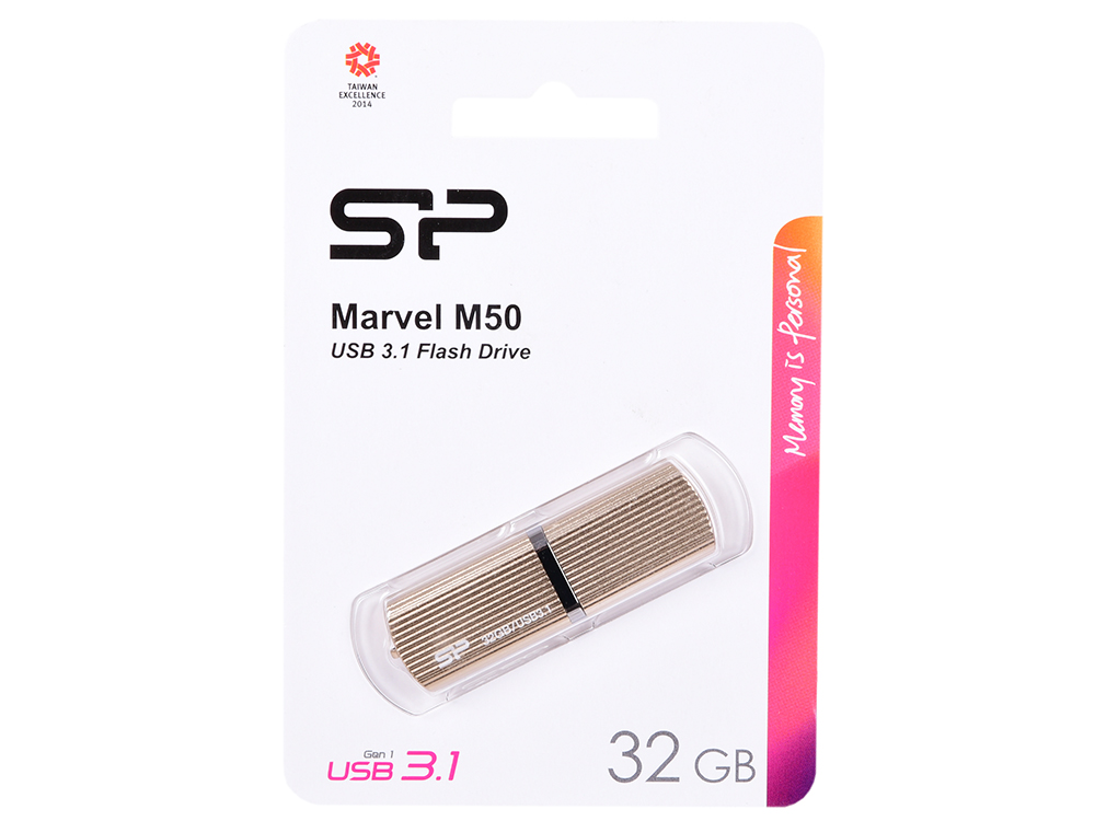 USB флешка Silicon Power M50 32Gb Golden (SP032GBUF3M50V1C) USB 3.0 / 90 Мб/с / 25 Мб/с