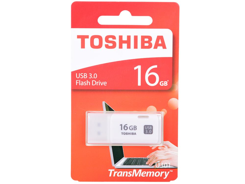 цена на USB флешка Toshiba Hayabusa U301 16Gb White (THN-U301W0160E4) USB 3.0