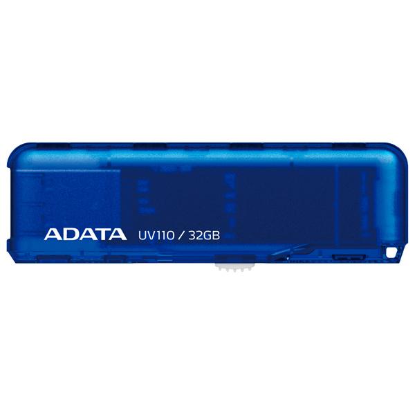 USB флешка A-Data UV110 32GB Blue (AUV110-32G-RBL) USB 2.0 флешка usb 32gb a data uv140 auv140 32g rbe синий