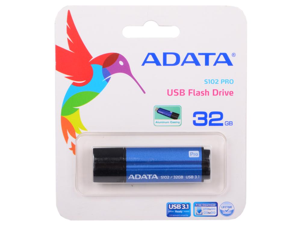 USB флешка A-Data S102P Pro 32GB Blue (AS102P-32G-RBL) USB 3.0 / 100 МБ/cек / 50 МБ/cек