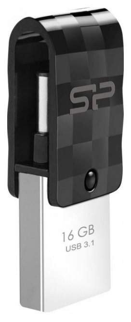 Фото - USB флешка Silicon Power Mobile C31 16Gb Black (SP016GBUC3C31V1K) USB 3.1/USB 3.1 Type-C usb флешка silicon power luxmini 710 16gb silver sp016gbuf2710v1s usb 2 0