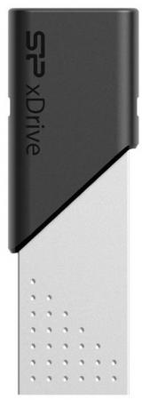 Фото - USB флешка Silicon Power xDrive Z50 64Gb Silver-black (SP064GBLU3Z50V1S) USB 3.1/Lightning usb флешка silicon power luxmini 710 16gb silver sp016gbuf2710v1s usb 2 0