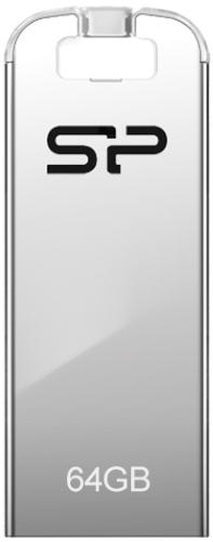 USB флешка Silicon Power Touch T03 64Gb Silver (SP064GBUF2T03V1F) USB 2.0 / 15 Мб/с / 8 Мб/с usb флешка mirex knight 8gb white 13600 fmukwh08 usb 2 0 18 мб с 8 мб с