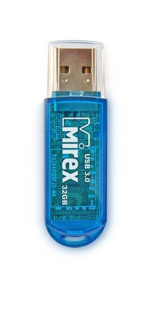 USB флешка Mirex Elf 32Gb Blue (13600-FM3BEF32) USB 3.0 / 140 Мб/с / 28 Мб/с usb флешка mirex knight 8gb white 13600 fmukwh08 usb 2 0 18 мб с 8 мб с