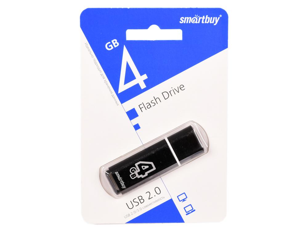 все цены на USB флешка Smartbuy Glossy series 4Gb Black (SB4GBGS-K) USB 2.0 / 15 МБ/cек / 5 МБ/cек