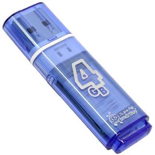лучшая цена USB флешка Smartbuy Glossy series 4Gb Blue (SB4GBGS-B) USB 2.0 / 15 МБ/cек / 5 МБ/cек
