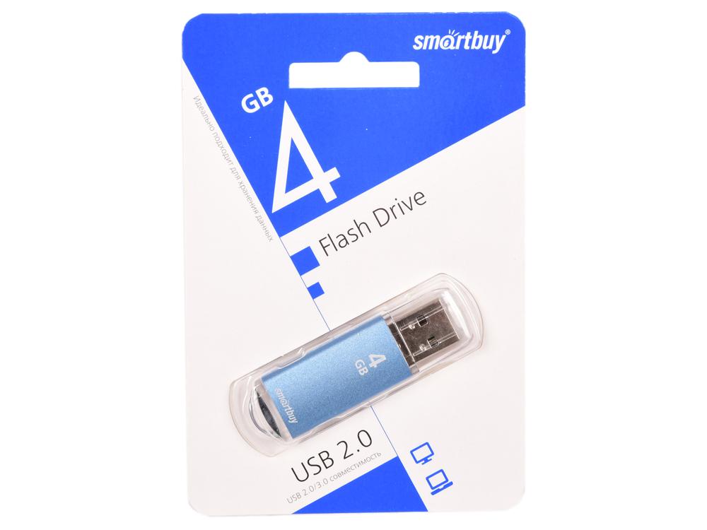 Фото - USB флешка Smartbuy V-Cut 4Gb Blue (SB4GBVC-B) USB 2.0 / 15 МБ/cек / 5 МБ/cек usb флешка smartbuy click 4gb blue sb4gbcl b usb 2 0 15 мб cек 5 мб cек