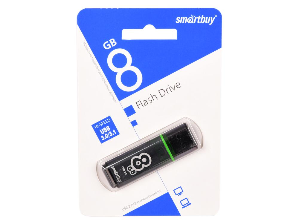 USB флешка Smartbuy Glossy series 8Gb (SB8GBGS-DG) USB 3.0 / 75 Мб/с / 10 Мб/с цена и фото