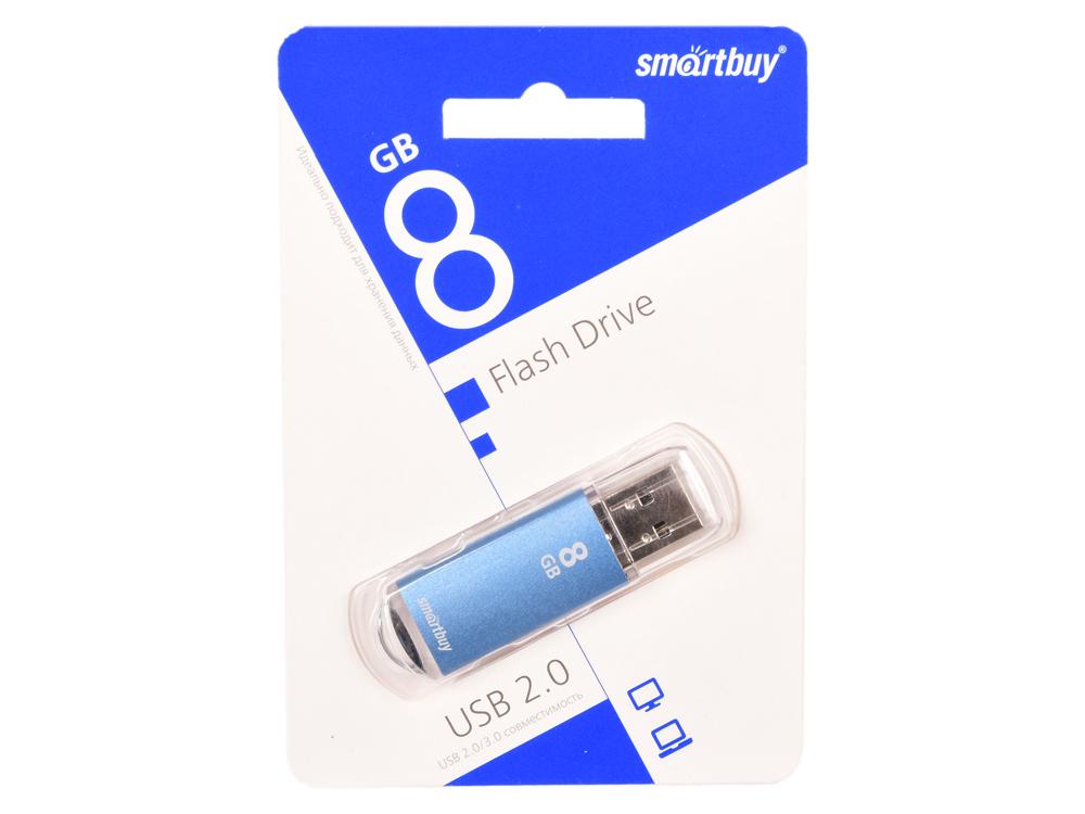 Фото - USB флешка Smartbuy V-Cut 8Gb Blue (SB8GBVC-B) USB 2.0 / 15 МБ/cек / 5 МБ/cек usb флешка smartbuy click 4gb blue sb4gbcl b usb 2 0 15 мб cек 5 мб cек