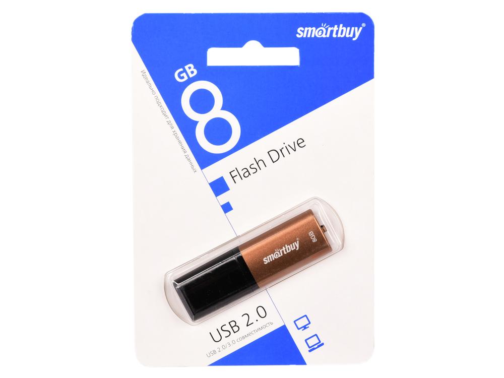 USB флешка Smartbuy X-Cut 8Gb Brown (SB8GBXC-BR) USB 2.0 / 15 МБ/cек / 5 МБ/cек цена