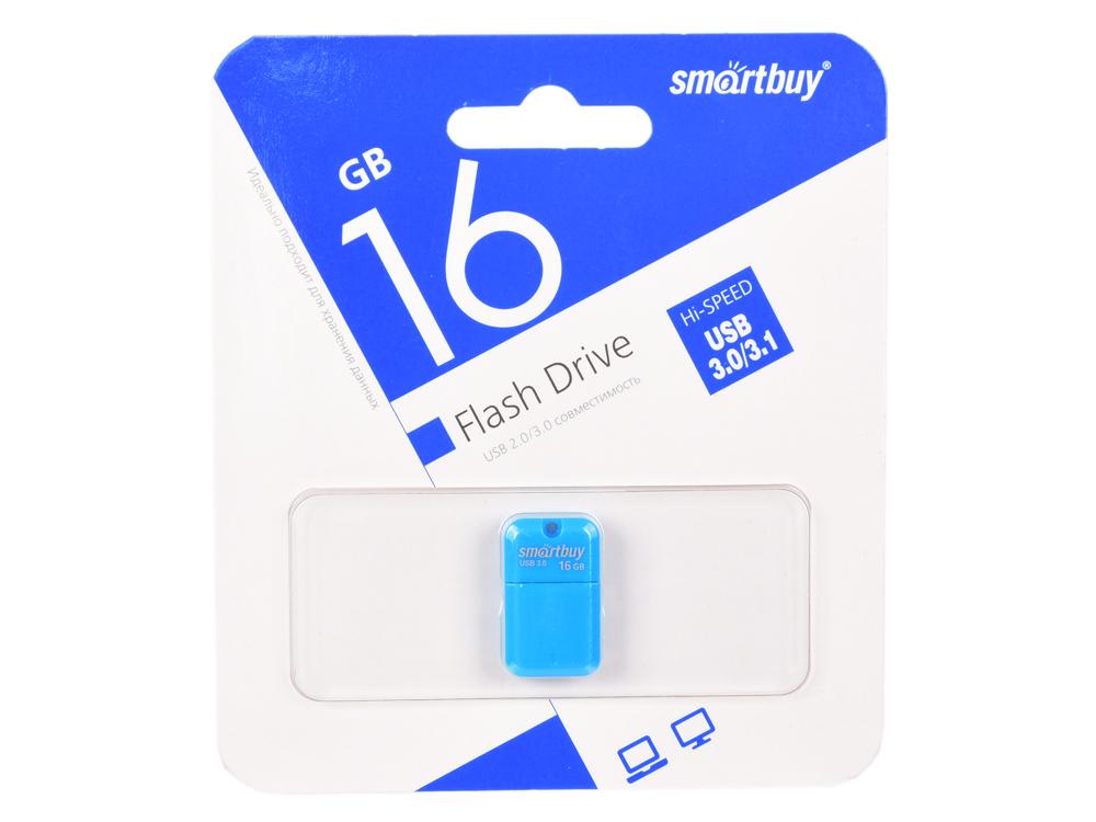 Фото - USB флешка SmartBuy ART 16GB Blue (SB16GBAB-3) USB 3.0 / 45 МБ/cек / 12 МБ/cек usb флешка smartbuy iron 64gb black red sb64gbir b3 usb 3 0 45 мб cек 12 мб cек