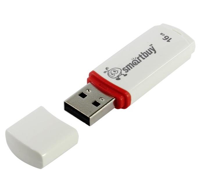 USB флешка Smartbuy Crown 16GB White (SB16GBCRW-W) USB 2.0 usb flash drive 64gb smartbuy crown white sb64gbcrw w